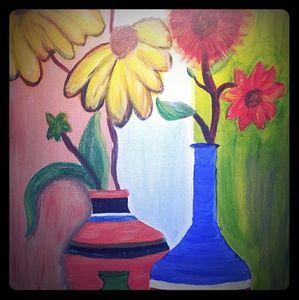 Kitchen Set w Painting Wine Jar & 16 pcs